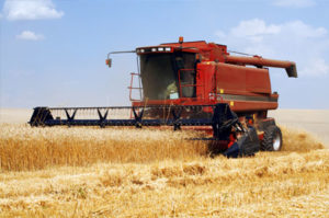 Harvester combine farm equipment